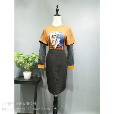 广州伊曼服饰品牌女装折扣,茜可可库存尾货批发
