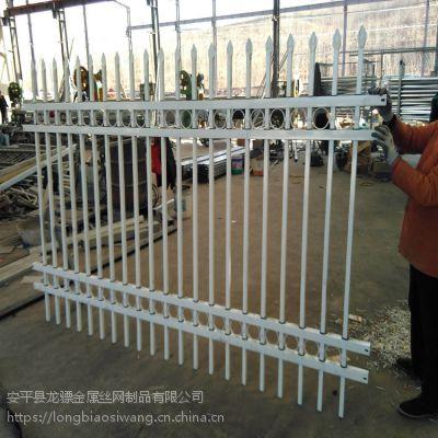 小区围墙厂家 锌钢护栏现货 厂区防攀爬铁艺围栏
