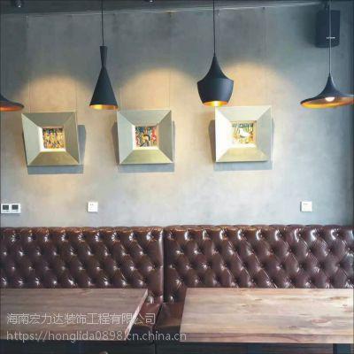 餐厅复古装饰墙面,地坪,宏利达专注地坪