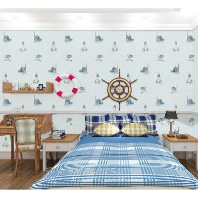 厂家直销简新绣欧式新款多式多花型高精密刺绣儿童房无缝环保墙布