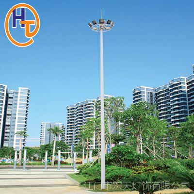 宏天户外照明 高杆灯厂家加工定制 广场球场大功率LED升降高杆灯