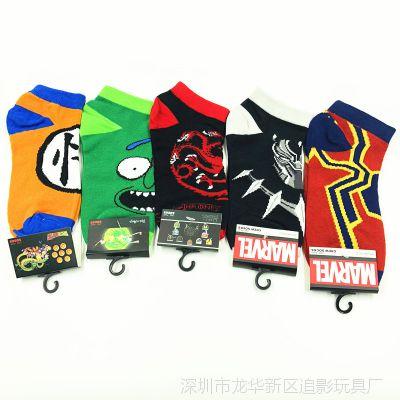 权力的游戏 树人 黑豹 蜘蛛侠 动漫周边 动漫 可爱 学生 吸汗袜子