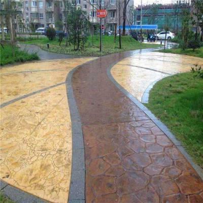 芜湖艺术压花地坪路面改造