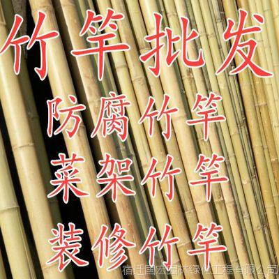 竹竿菜园搭架篱笆栅栏粗细跳舞竹竿装饰粗楠竹子防腐彩旗竹竿