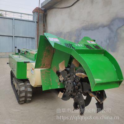 柴油大马力果园开沟机 启航履带式除草松土一体机 新款自走式回填机