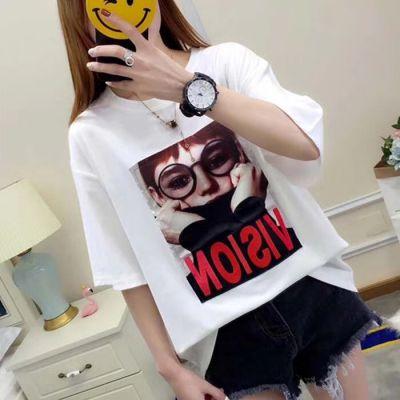 工厂清货女装T恤时尚便宜杂款女装短袖纯棉t恤清货2-5元库存服装清