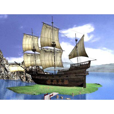 10m摄影道具船 公园装饰木船 海盗船 款式可定制