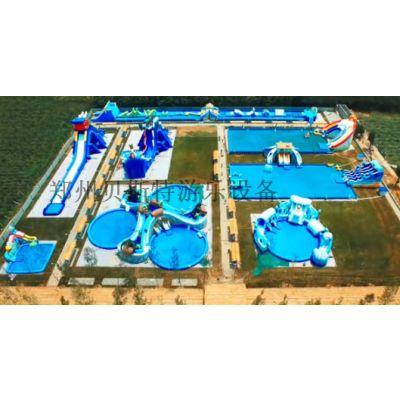 广西云南可移动的水上乐园支架水池水上滑梯等全套定做