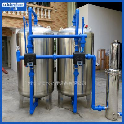 农村居民生活用水处理净化过滤设备 广旗牌石英砂多介质砂碳过滤罐