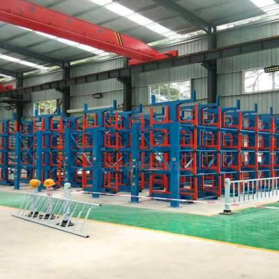 莆田双悬臂货架承重 棒材存放架 型材库用的货架类型