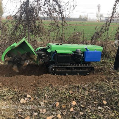 橡胶履带式田园开沟机 田园锄草松土犁地机 农田施肥耕整回填机