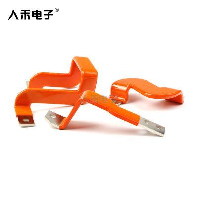 RHI/人禾电子新能源铜排软连接 优质T2紫铜连接排 折弯 铜排浸塑