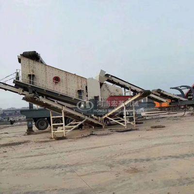 建筑垃圾回收利用机械,车载移动式破碎站报价
