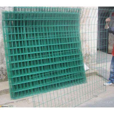 养殖、圈地用双边丝护栏网-一诺厂家供应绿色铁丝围栏网