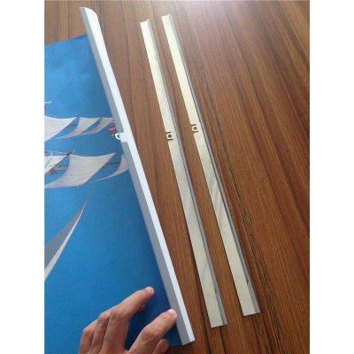 供应[通用款]卓芃长度可订制金属金银色挂历配件铁皮夹挂夹