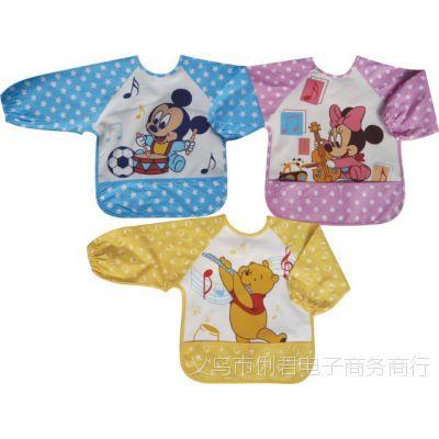 音乐款防水反穿衣 儿童口水衣 儿童吃饭衣 迪思妮卡通罩衣防污衣