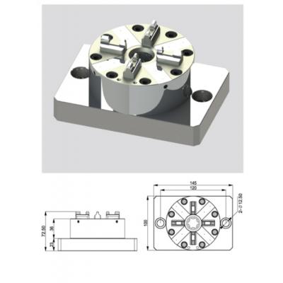 EROWA夹具 CNC 机床 D100卡盘气动卡盘 快速换装 工装治具