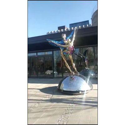 河北品牌工厂专业定制不锈钢舞蹈人物雕塑室外景观摆件制作