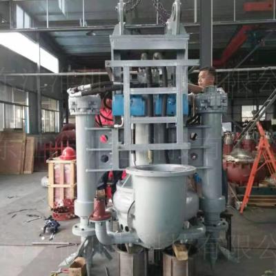 勾机绞吸尾桨泵 水路两用环保治理专用渣浆泵泵体形状图江淮泵业