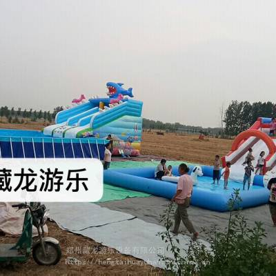 钢架游泳池免费安装 定做标准钢架支架游泳池 工厂定制移动式支架水池