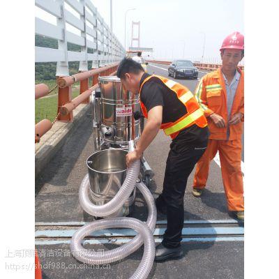 威德尔汽油机工业吸尘器高架维护吸小石子水泥渣用吸尘机手推式干湿两用