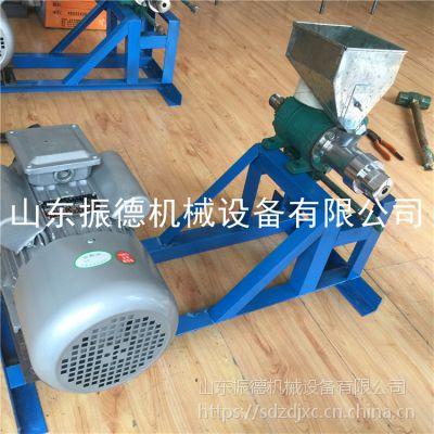 河南大角米棍玉米膨化机 空心弯管型膨化机 振德低价促销 双机头大米康乐果机的价格