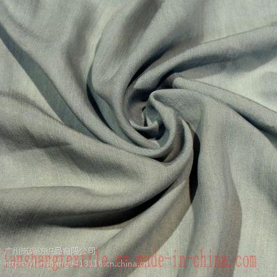 100%天丝21S*21S 220克/平方米 幅宽145厘米 竹节斜纹牛仔面料连衣裙裤装时装面料