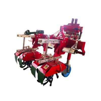 四轮拖拉机三点后悬挂式马铃薯培土机 开沟犁土豆上土机 起垄覆膜一体机