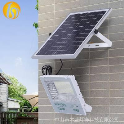 本盛农村家用太阳能庭院灯新款户外花园带数显白金刚太阳能路灯