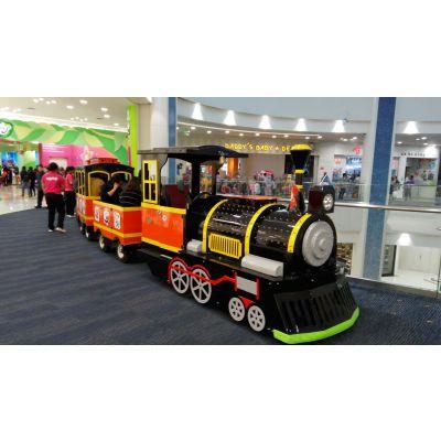 电动小火车游览观光无轨火车仿古景区代步车商场广场不可或缺设备