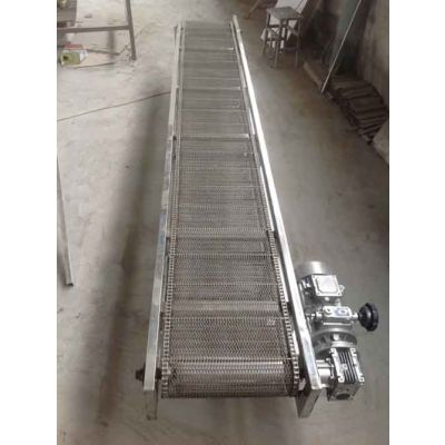 挡板网带输送机耐高温 水平直线输送