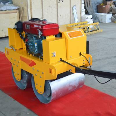 小型座驾压路机 手扶双钢轮振动压土机