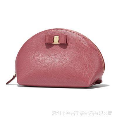 工厂定制  蝴蝶结PU女包 女式贝壳型手拿包  贝壳化妆包 小