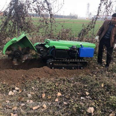 大型果园开沟施肥机 农田种植旋耕除草机 厂家直销履带式开沟机