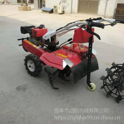 启航一机多用多功能柴油开沟机 四驱带转向旋耕机 自走式锄草机价格