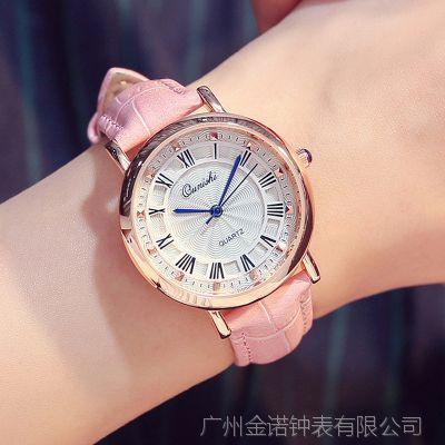 批发定做时尚潮流罗马复古手表女学生韩版休闲防水女生装饰时装表