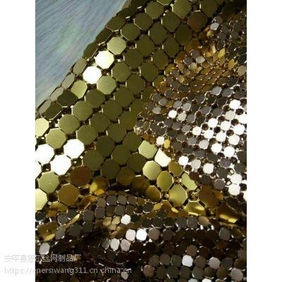 厂商推荐室内装饰点缀金属窗帘,工艺金属环网制品