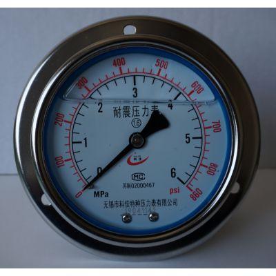 盘装充油压力表型号_嵌装充油规格,无锡苏科佳仪表量程