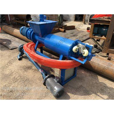 电动加长型鸡粪分离机 牛粪甩干机200型 速度快粪便脱水机