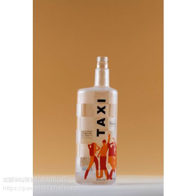 晶质料玻璃酒瓶厂家定制生产可蒙砂喷漆贴标印logo