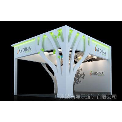 广交会展位设计标准 展位费用报价单 嘉德展台3D模型