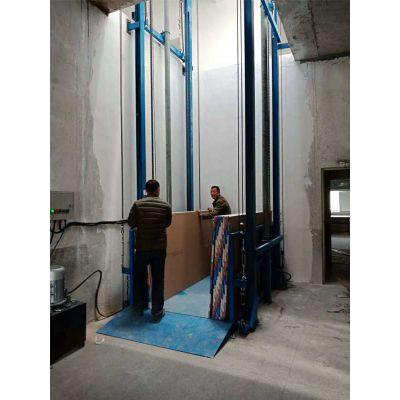 鑫峰液压厂家直销(图)-导轨升降货梯厂家-德州导轨升降货梯