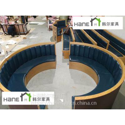 供应港式做旧茶餐厅家具 港式卡座沙发定制加工 韩尔复古品牌