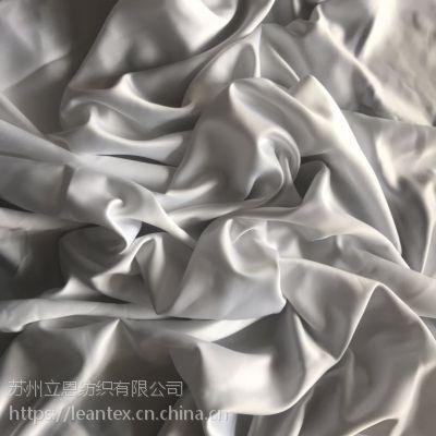 厂家供应 75D*150D加厚 亚光缎面加捻色丁贡缎 裙子礼服婚纱面料