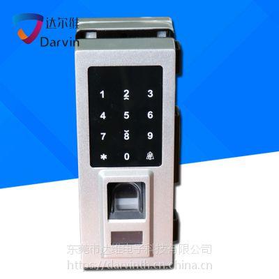 达尔维玻璃门防盗锁 智能指纹锁 电子密码锁批发厂家