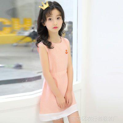 童装女童连衣裙夏季2018新款韩版女孩背心裙子宝宝儿童公主裙夏装