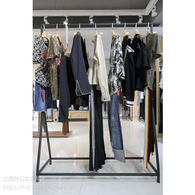 麦中林女装品牌折扣店货源折扣 北京正品女装尾货批发棕色雪纺衫