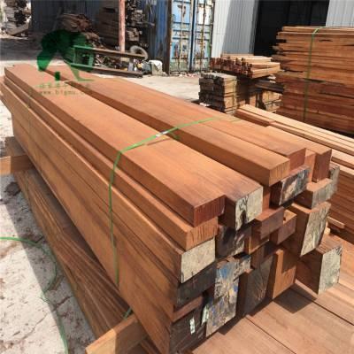 正宗菠萝格户外木材|菠萝格防腐木|菠萝格园林景观工程