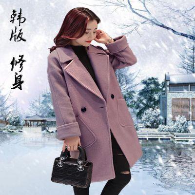 厂家直销特价库存杂款女装双面呢中长款妮子大衣外套风衣地摊货源