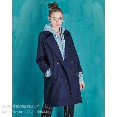 走份包邮女装艾梅尼特19年春装新款风衣外套